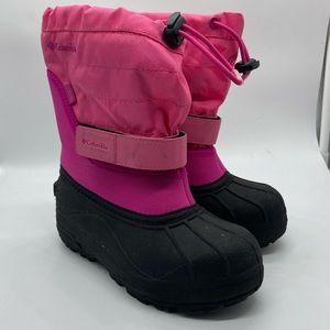 Columbia Powderbug Pink Snow Boot Insulated 13